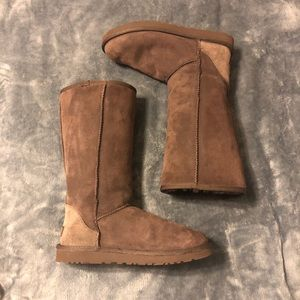 UGG classic tall boot in chocolate